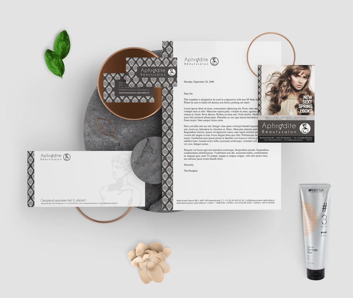 Beautysalon - branding en website voor schoonheidssalon