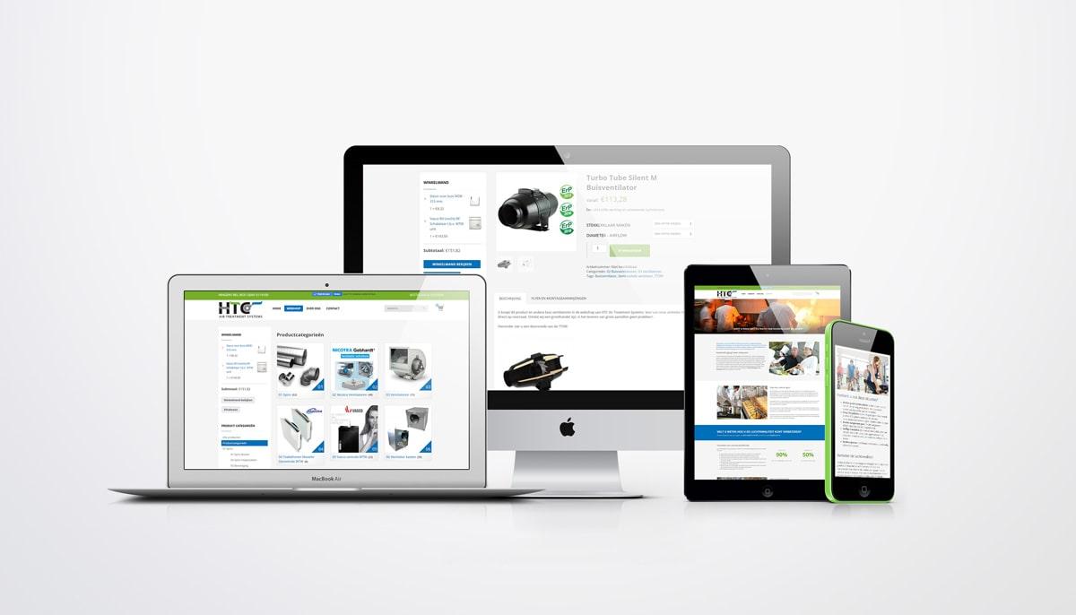 Webshop design voor luchtventilatietechniek systemen