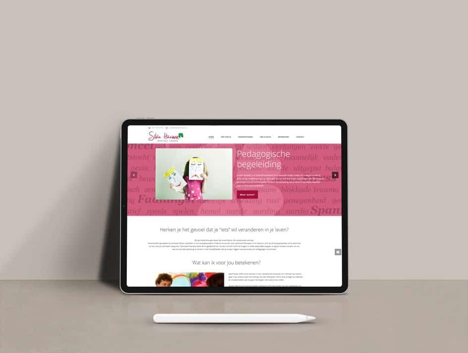 Ontwerp website en huisstijl voor spiritueel therapeut