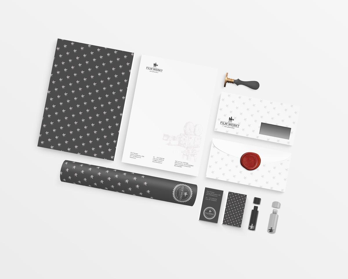 Branding huisstijl en website design voor filmmaker