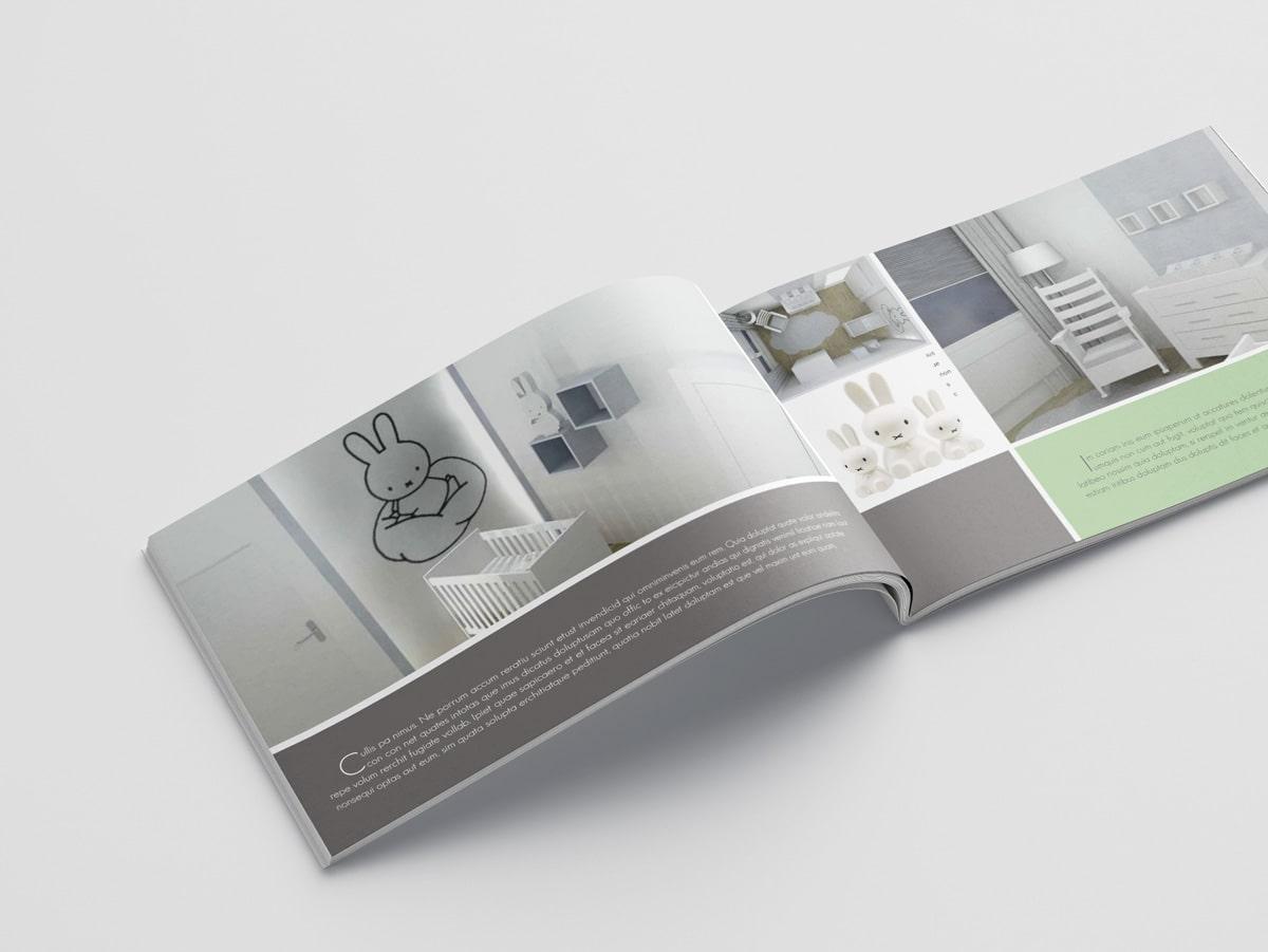Ontwerp product brochure in huisstijl voor interieur designer