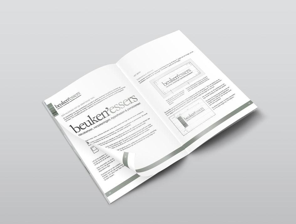 Huisstijl handboek met richtlijnen voor gebruik logo