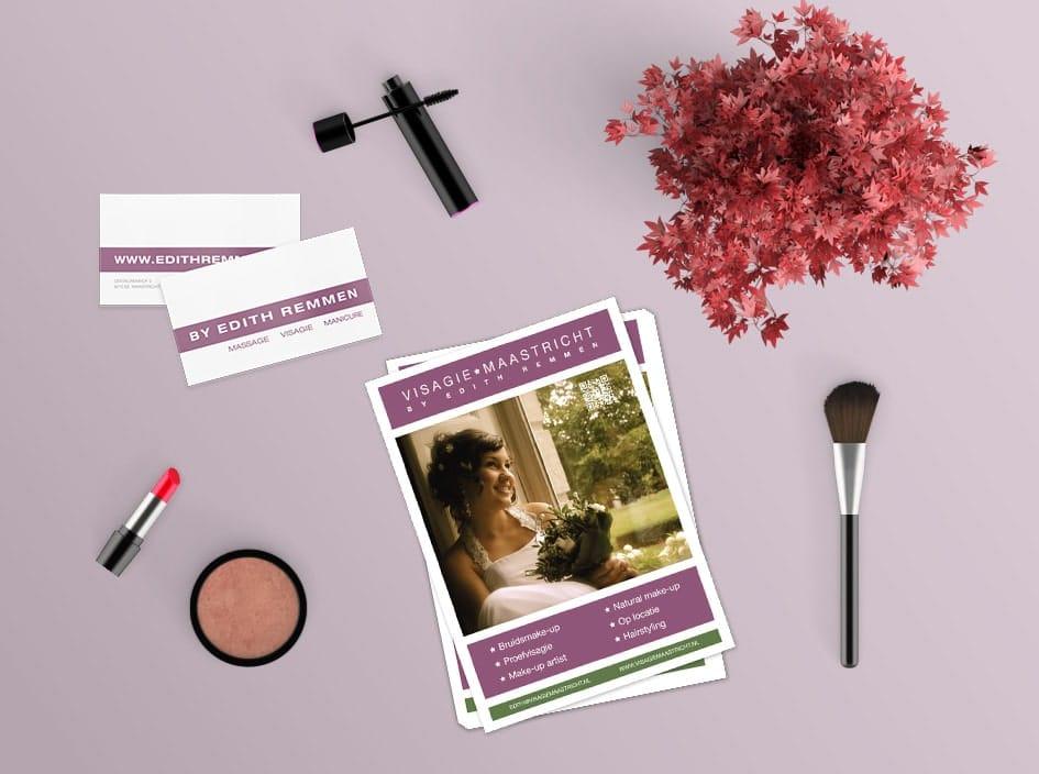 Huisstijl ontwerp flyer en visitekaartjes