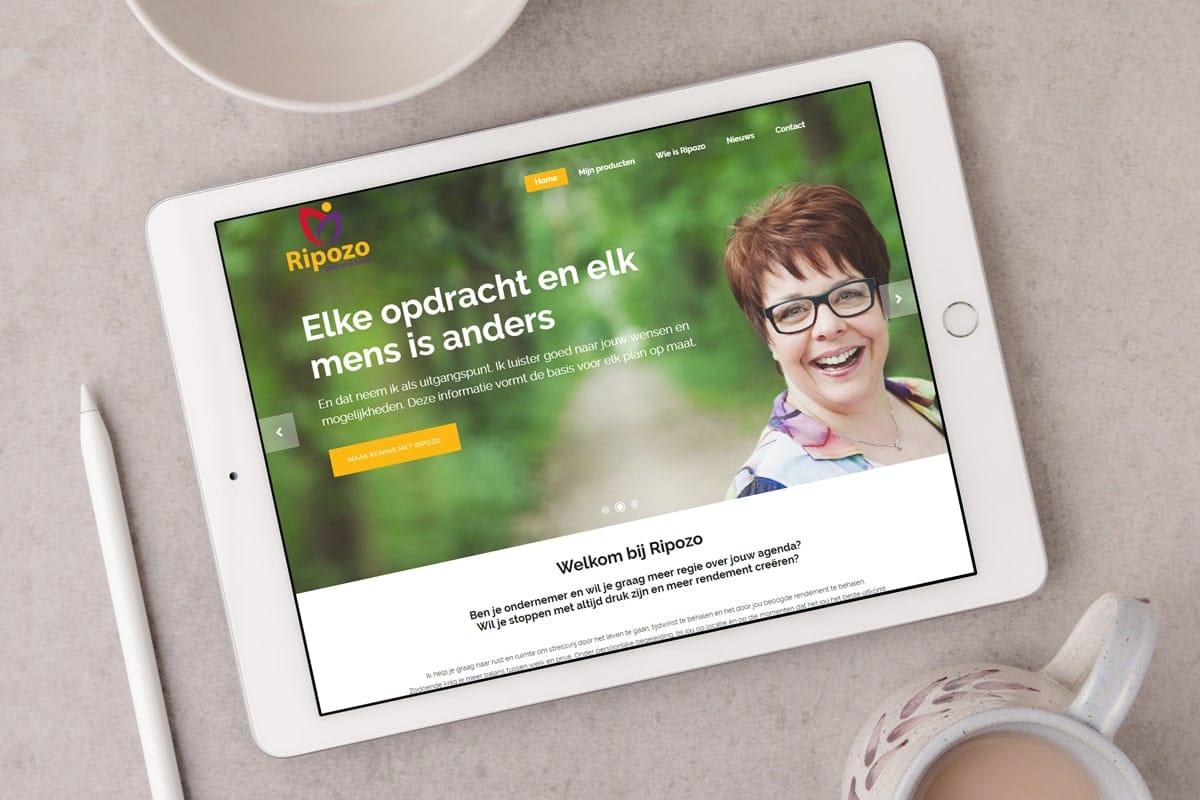 Responsive website voor professional organizer