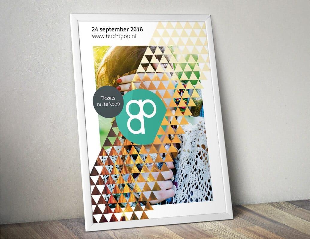 Ontwerp poster na rebranding festival