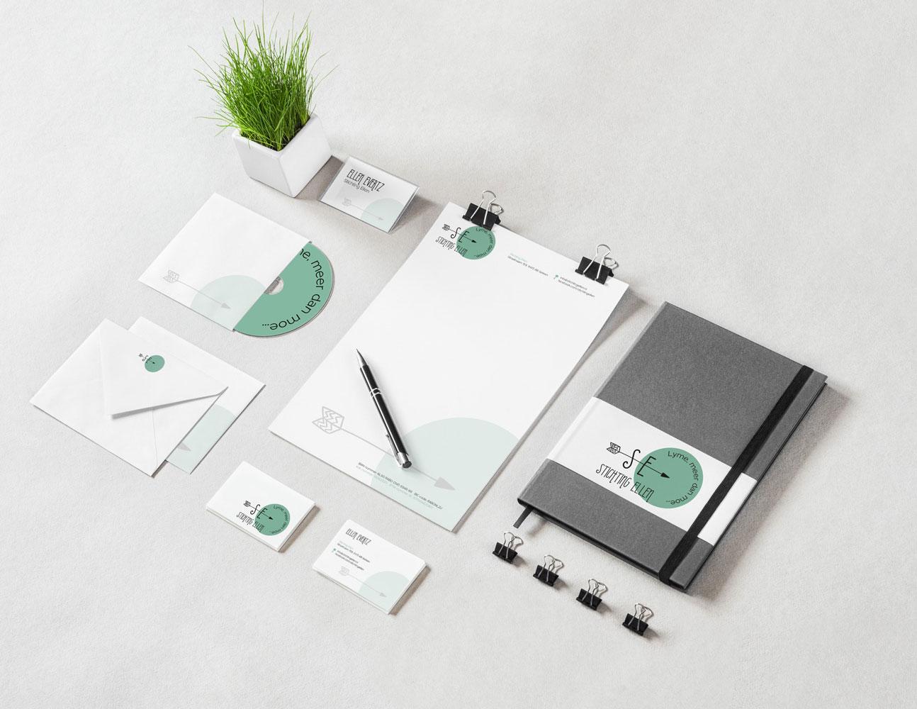 Boho logo en huisstijl ontwerp voor stichting