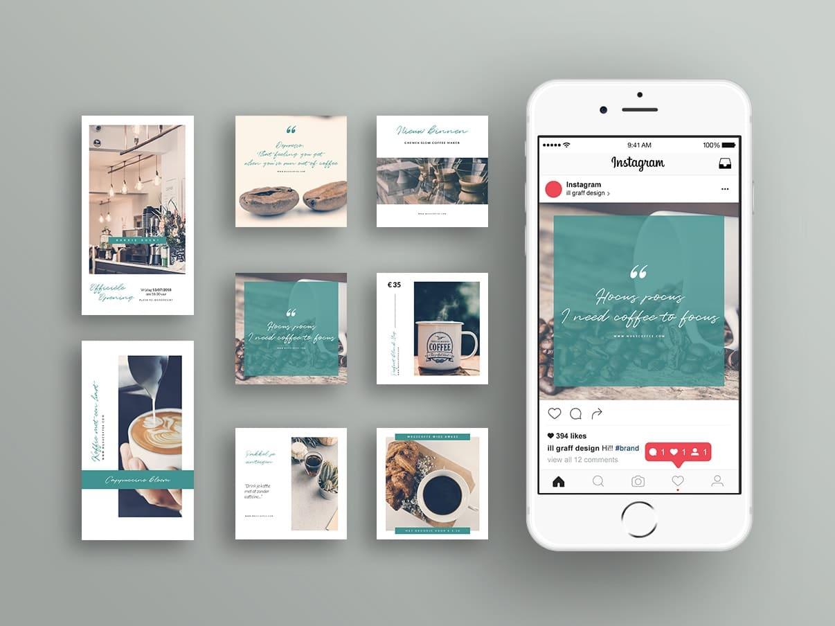 Instagram Branding Templates voor je bedrijfsprofiel