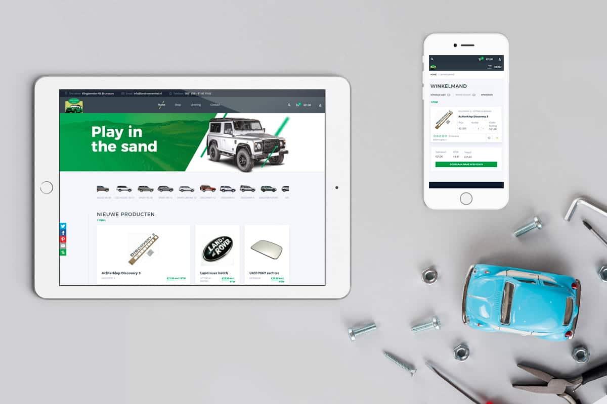 Automotive webshop in huisstijl