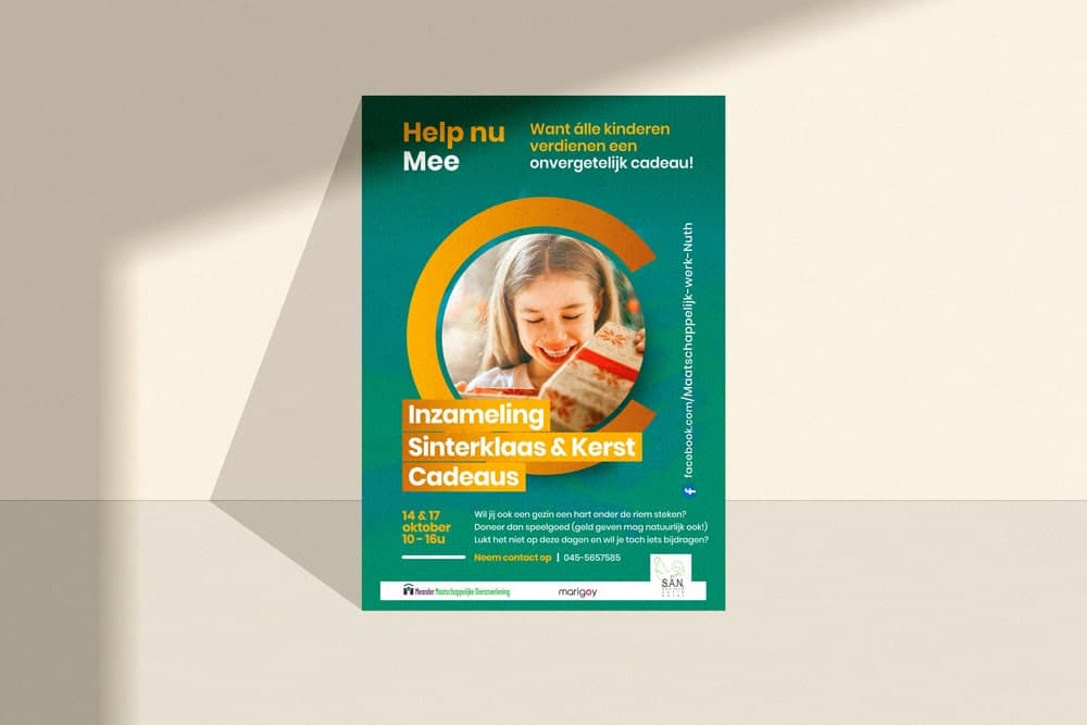 Flyer als promotiemateriaal voor campagne