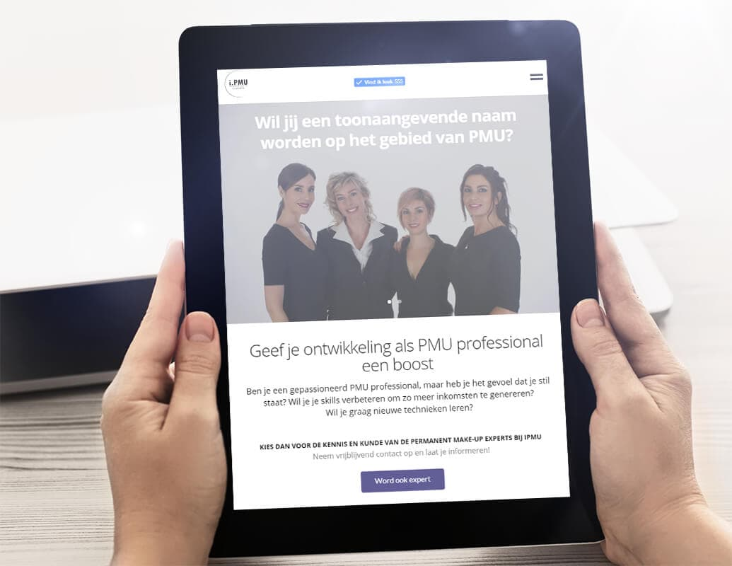 PMU branding en webdesign met fotografie