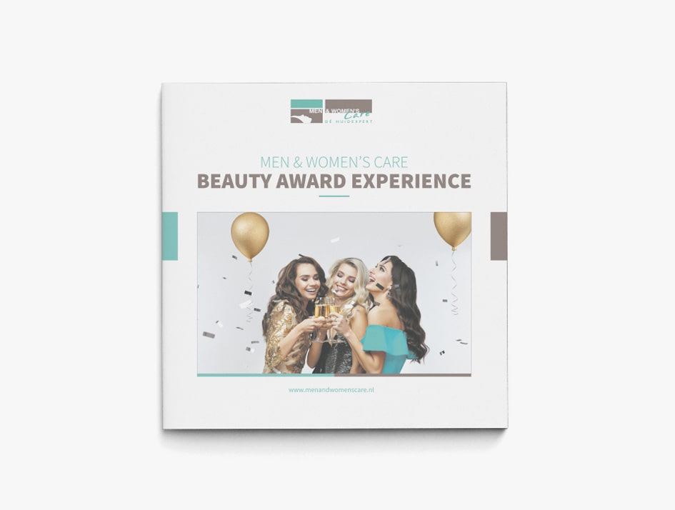 Ontwerp bedrijfsbrochure voor beauty awards