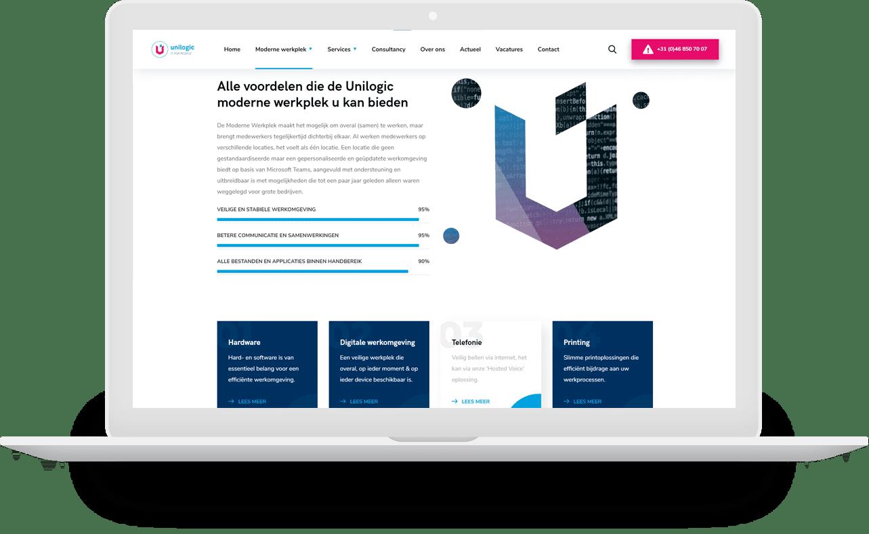 Zakelijke website voor ICT-bedrijf in eigen huisstijl